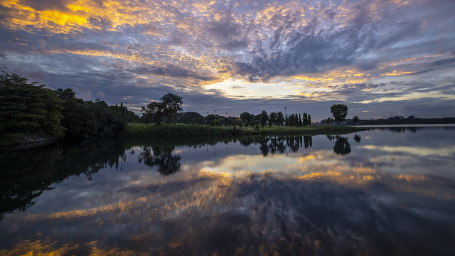 Kaleidoscopic Clouds and Reflections in Lower Seletar Reservoir [In Explore 3 Apr 2021]