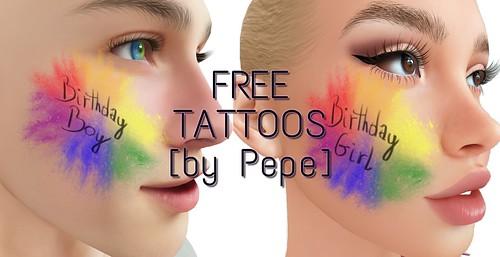 FREE TATTOOS [by Pepe]