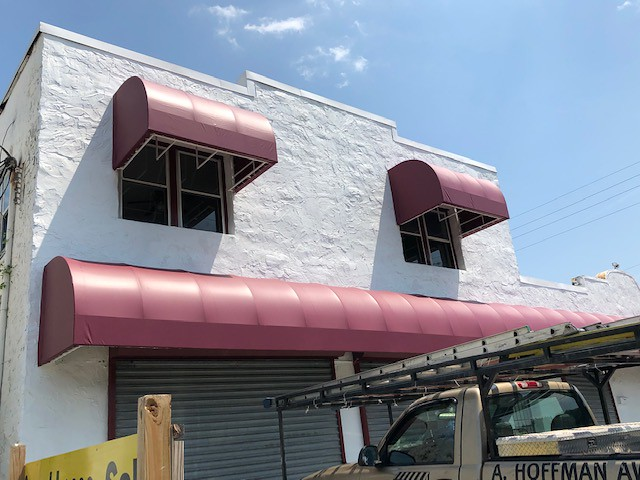 Commercial Building Loading and Window Awnings