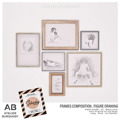 Atelier Burgundy . Frames Composition Figure Drawing TSS