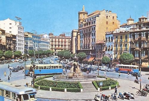 Antigua postal de Granada de los años 50