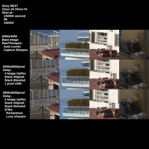 """Stacked 4 Images ~ """"Super Resolution"""" comparison ~ 2021"""