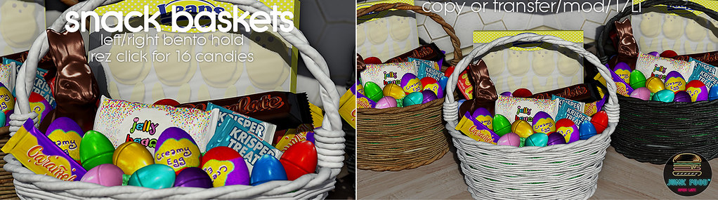Junk Food - Snack Baskets Ad