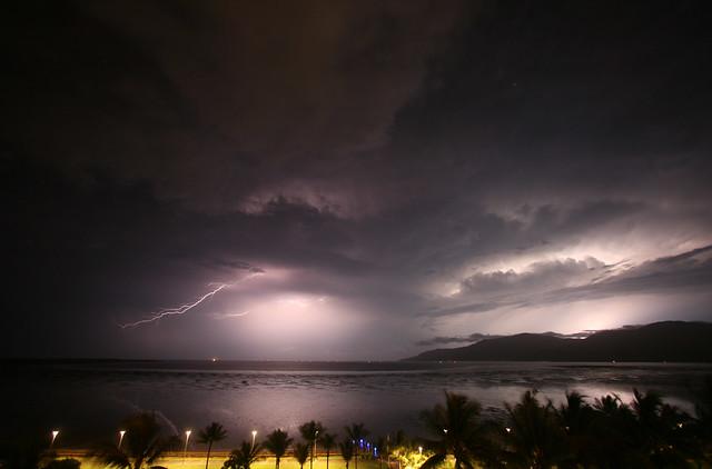 Lightning Storm Across Trinity Inlet - Nov 30, 2007
