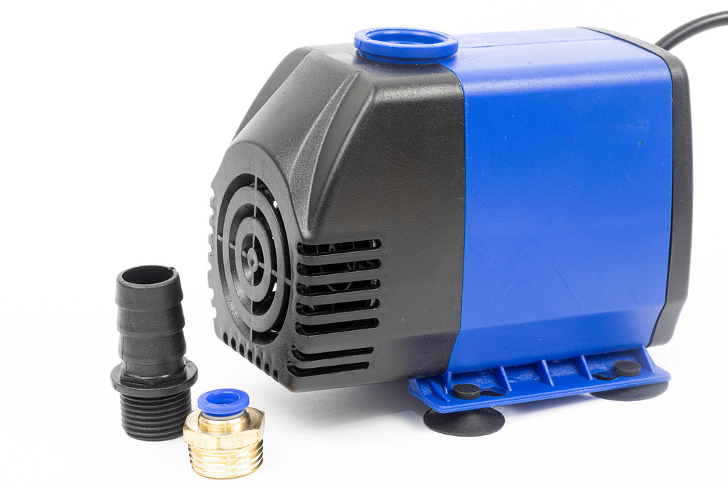 Submersible Water Pump isolated above white background