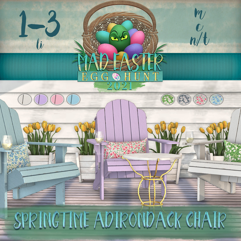 Easter Hunt Premium Prize Reveal: Springtime Adirondack Chair