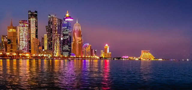 Doha blue hour