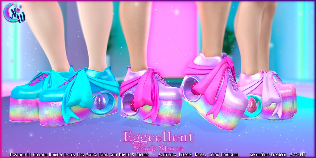 *NeverWish* Eggcellent  Stack Shoes