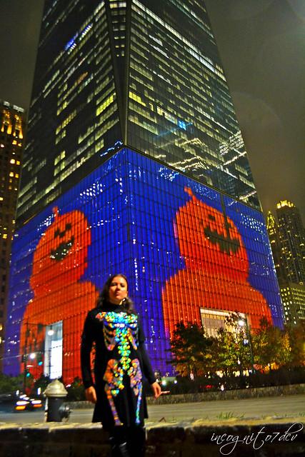 Halloween at WTC One World Trade Center Freedom Tower Lower Manhattan New York City NY P00851 DSC_3495