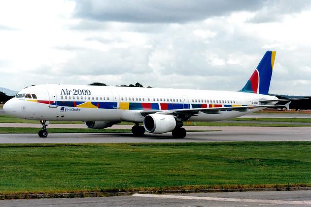 Air 2000 | Airbus A321-200 | G-OOAE | Manchester International