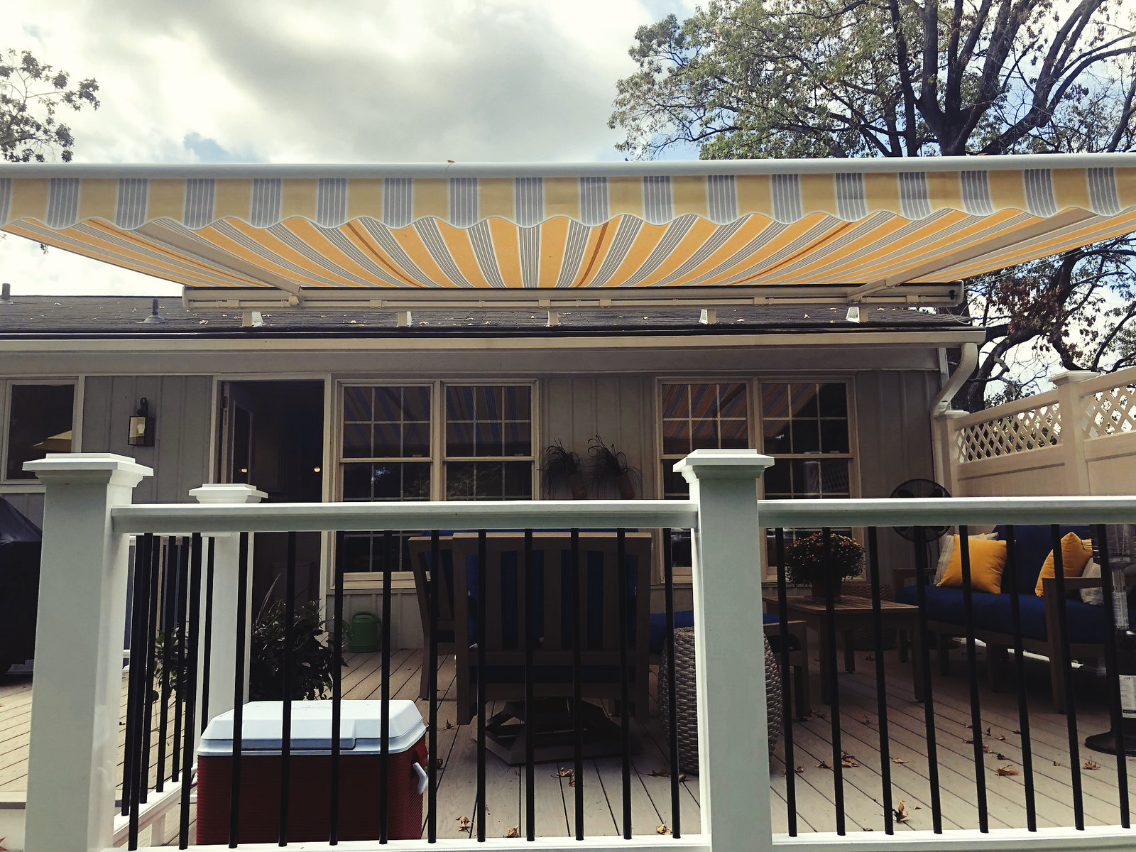 Retractable Motorized Awning-Hoffman