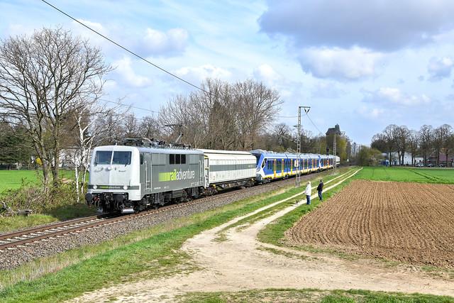 111 029 + 2762 + 3013 - railadventure + ns - dülken - 3421