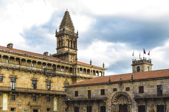 Spain - Coruña - Santiago - Plaza del Obradoiro