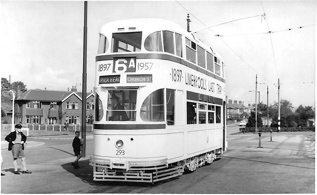 Liverpool last tram No. 293 @ Bowring Pk.