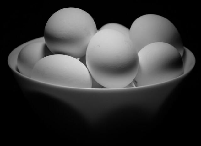 Eggs in B&W