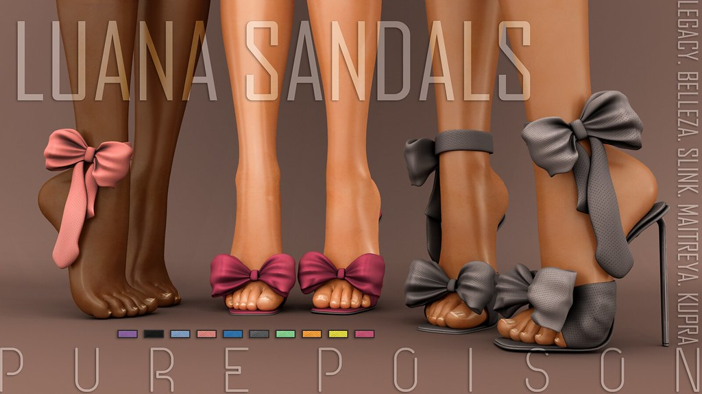 Pure Poison – Luana Sandals – FaMESHed