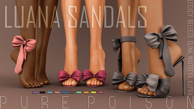 Pure Poison - Luana Sandals - FaMESHed