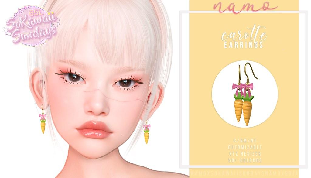 namo. carotte earrings @SoKawaiiSundays