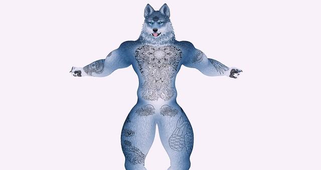 [ V4.1 ] JOMO Male Werewolf Tattoo Zeus