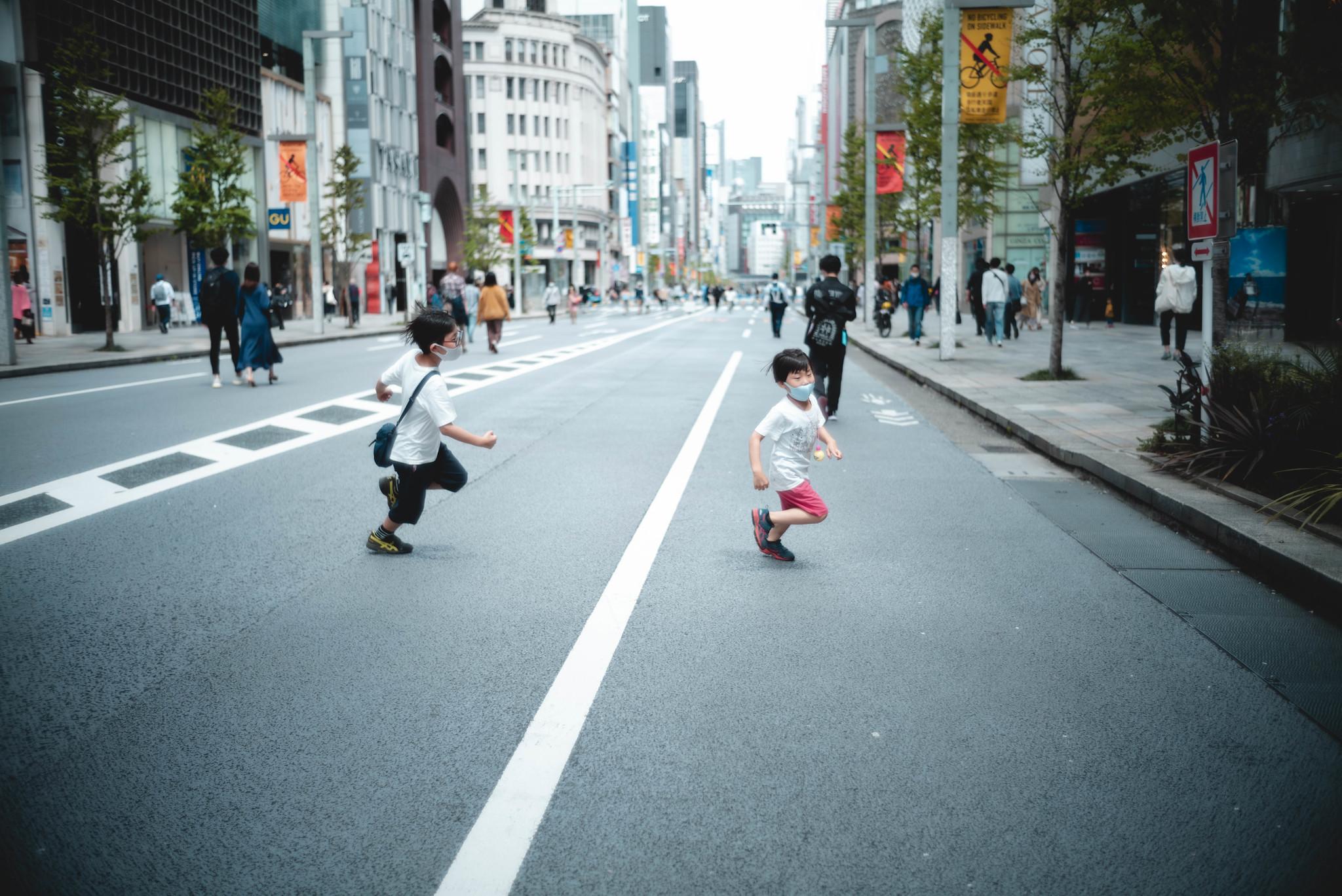 running around kids