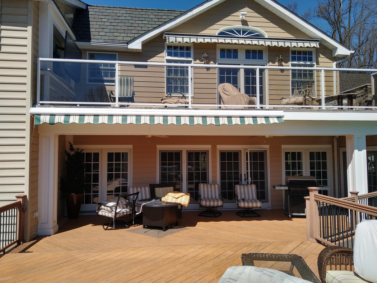 2 Motorized Retractable Awnings
