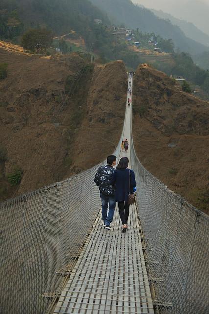 dangerous hanging bridge