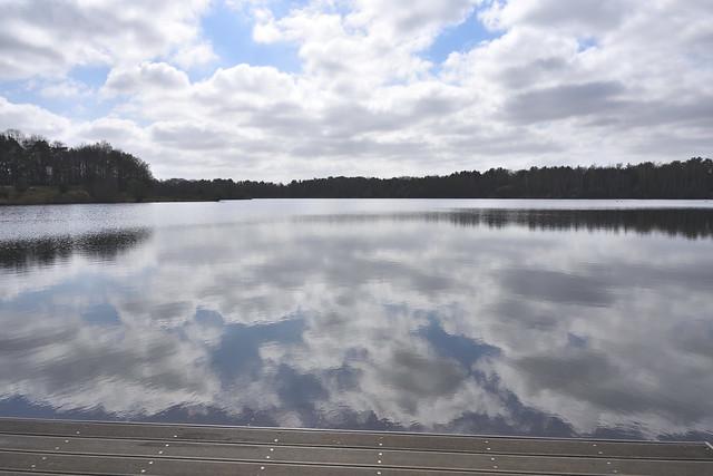 Wolken reflectie.