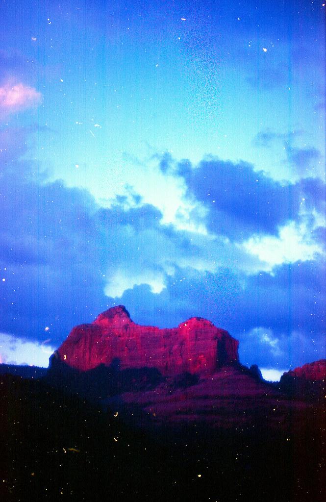 final seconds of Sedona sunset