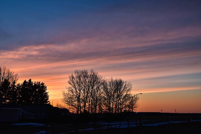 Multi colours sunset