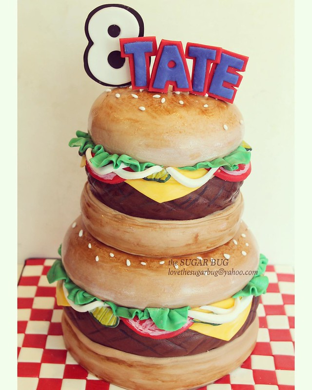 Hamburger Cake by The Sugar Bug