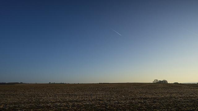 across the open fields