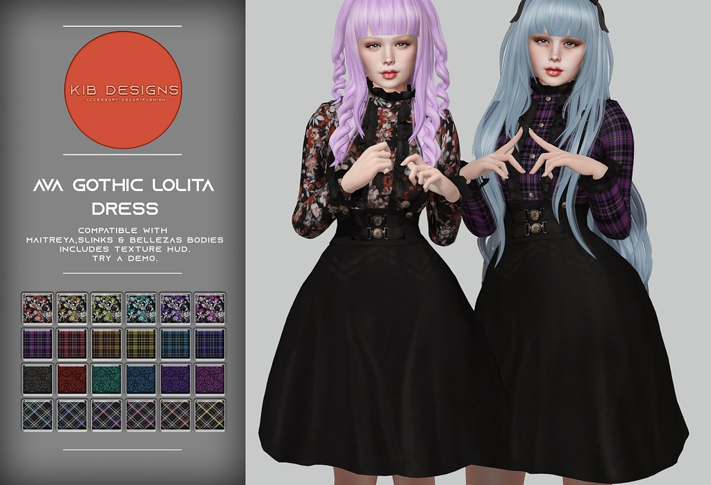 KiB Designs – Ava Gothic Lolita Dress @The Darkness Event 5th April