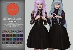 KiB Designs - Ava Gothic Lolita Dress @The Darkness Event 5th April