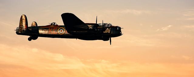 Avro Lancaster In Flight