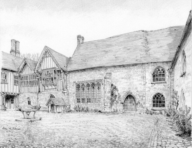 The hall and parlour block, Ightham Mote