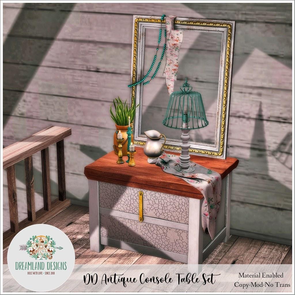DD Antique Console Table Set AD