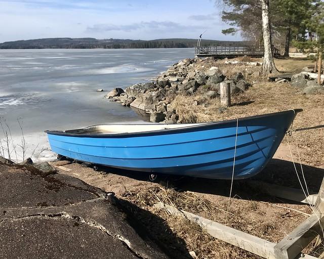 Blue Boat by Lake Varpan