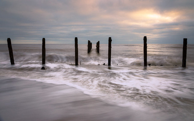 Dawn on the Beach at Happisburgh Norfolk