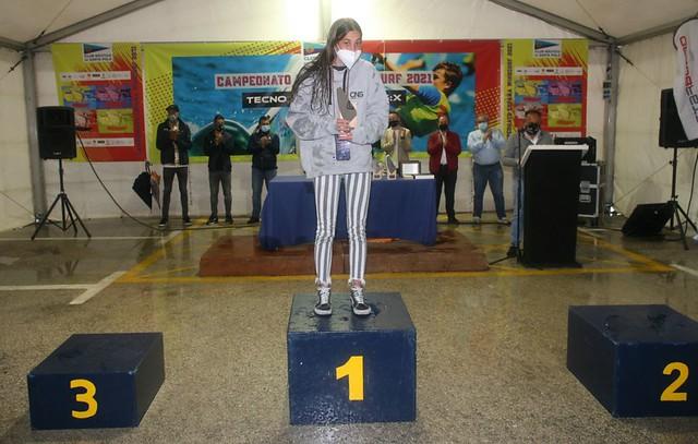Carmen Sahuquillo, en el podio FOTO C.N. Santa Pola