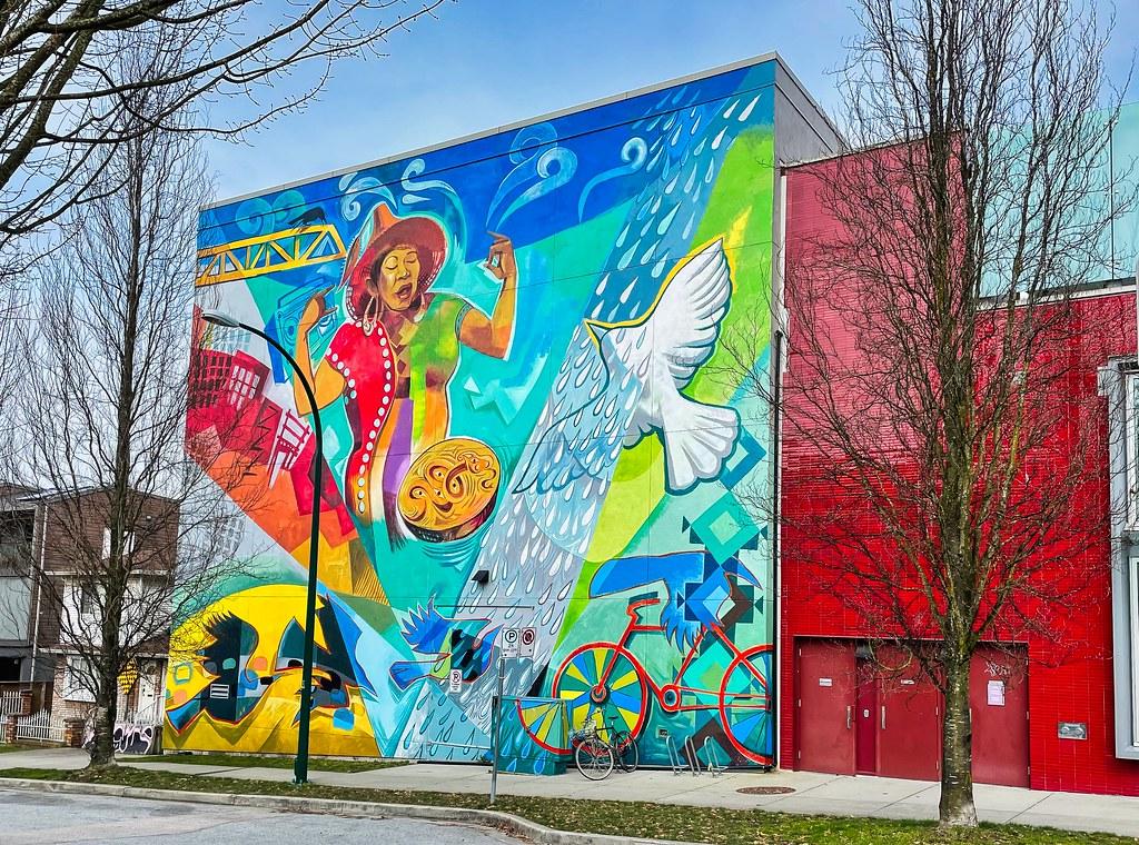 2021 - Vancouver - York Theatre Mural by Ariel Martz-Oberlander