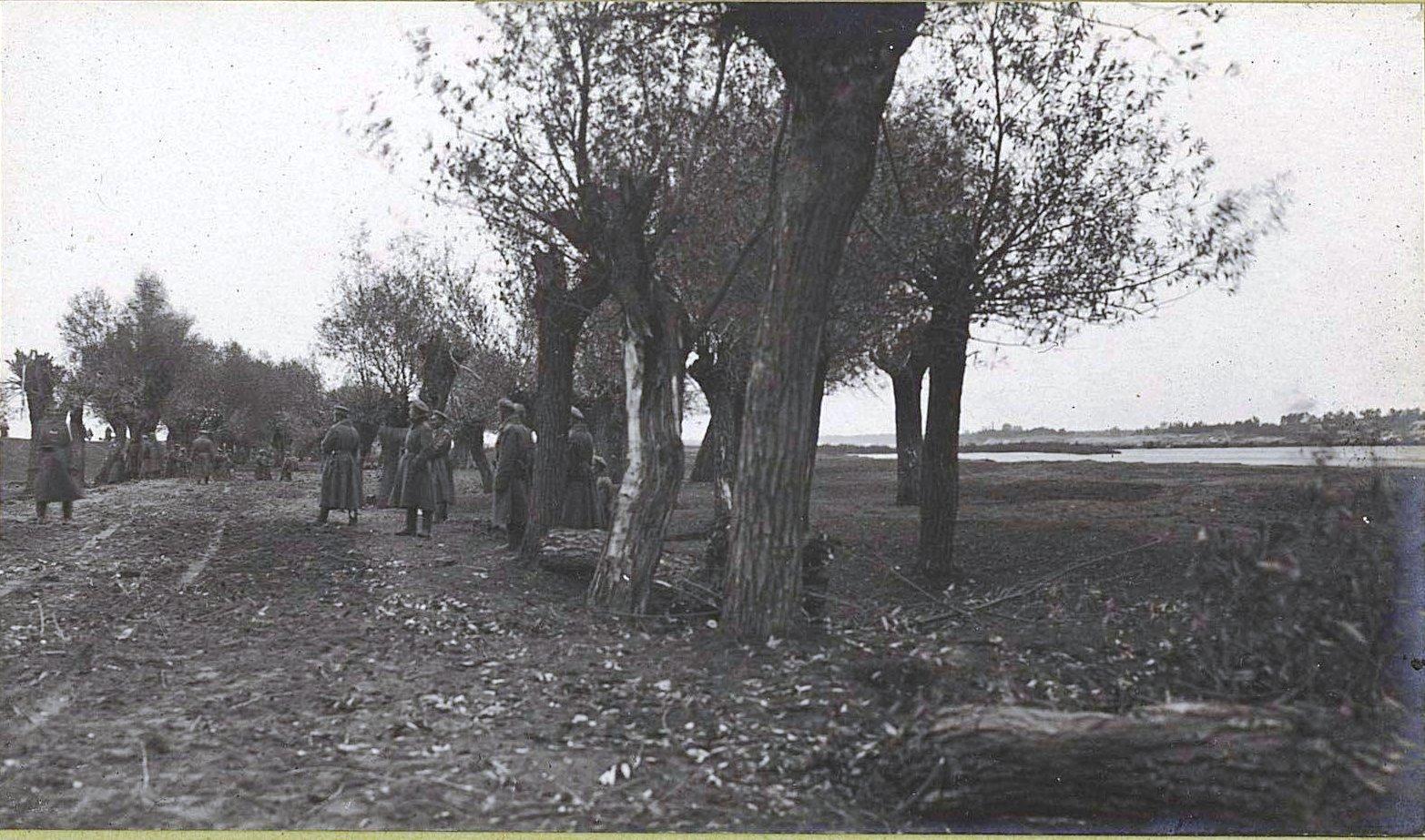 34. Постройка военной дороги на левом берегу Вислы у Ново-Александрии