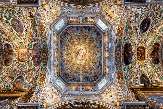 Basilica di Santa Maria Maggiore ceiling in Bergamo Upper Town