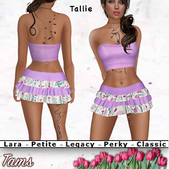Tube Top and Ruffled Skirt - Tallie