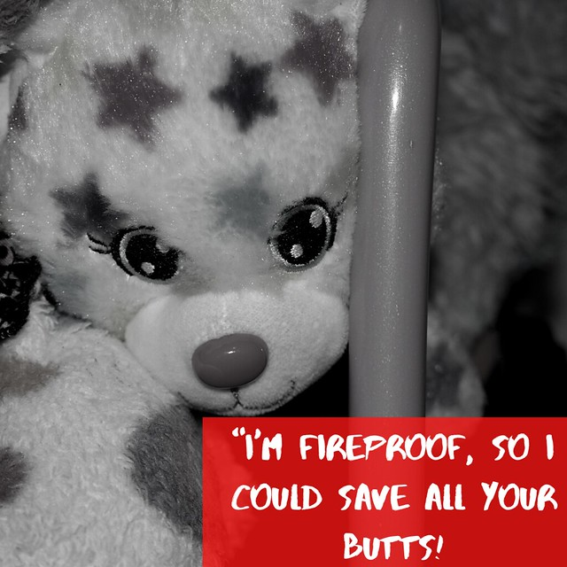 """""""I'm fireproof, so I could save all your butts!"""
