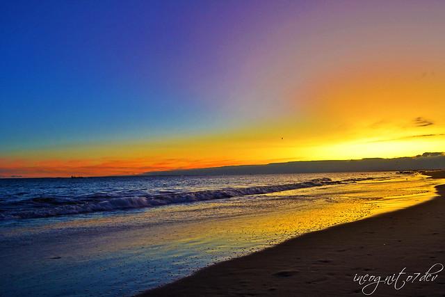 Beautiful Twilight on Coney Island Beach Brooklyn New York City NY P00852 DSC_3235