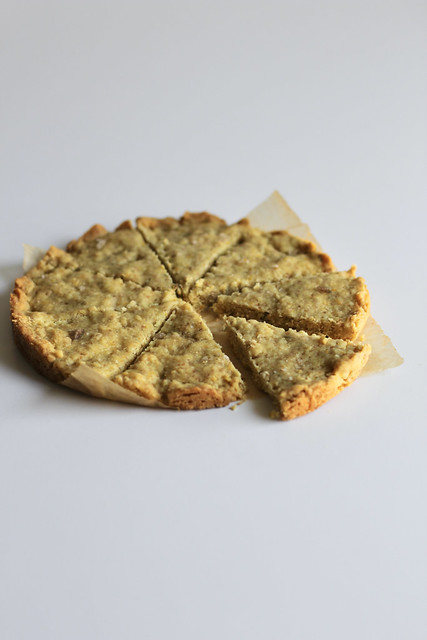 fennel-orange shortbread wedges
