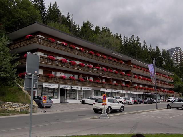 Chalet type hotel.