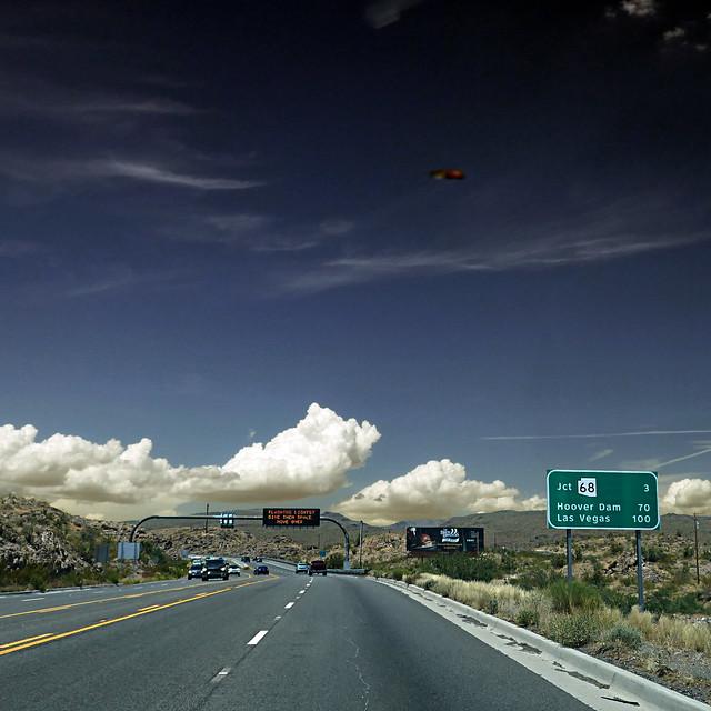 UFO over Clacks Canyon, Arizona, USA