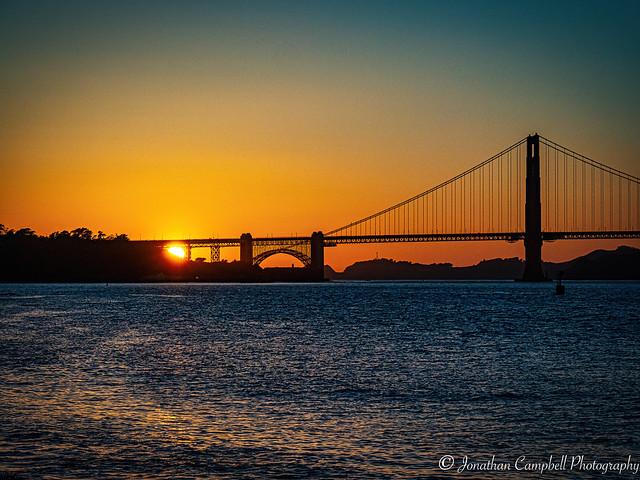 Sunset in the Golden Gate Bridge San Francisco
