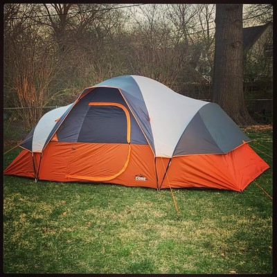Picture of Our Tent Put up in Backyard